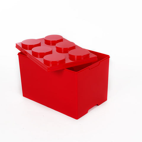 Storeasy Junior Building Block Stackable Storage Box 54Ltr Red