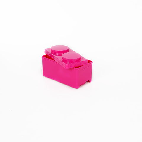 Storeasy Junior Building Block Stackable Storage Box 7.5Ltr Pink