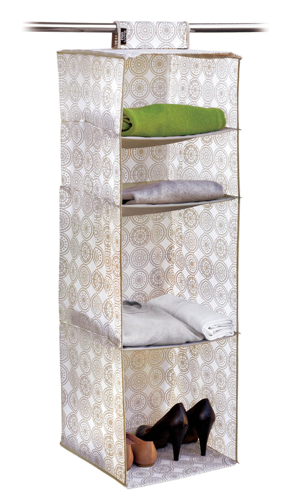 Hanging Organiser with 4 Shelves - Ella Beige