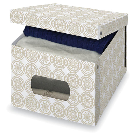 Extra Large Garment Box - Ella Beige