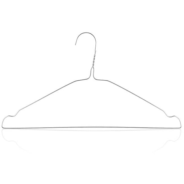 13.5 Gauge Chrome Finish Wire Hanger with Shoulder Notches