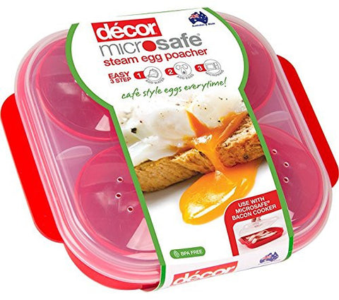 Microwave Steam Egg Poacher Maker - For Perfectly Poached Eggs Cooked In Minutes