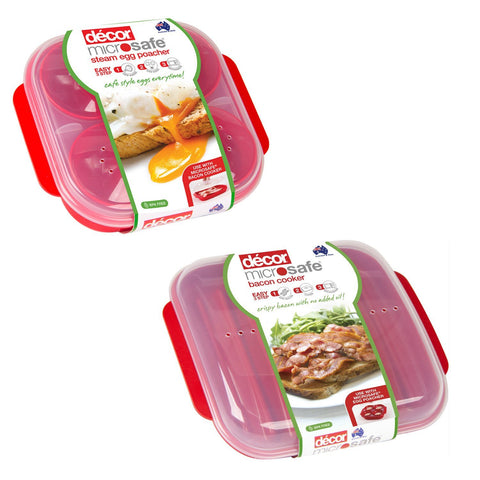 Microwave x1 Bacon Cooker & x1 Egg Poacher