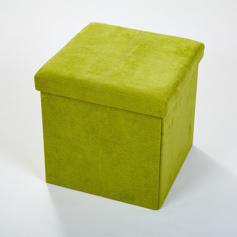 Storeasy Apple Green Micro Suede Single Seat Ottoman