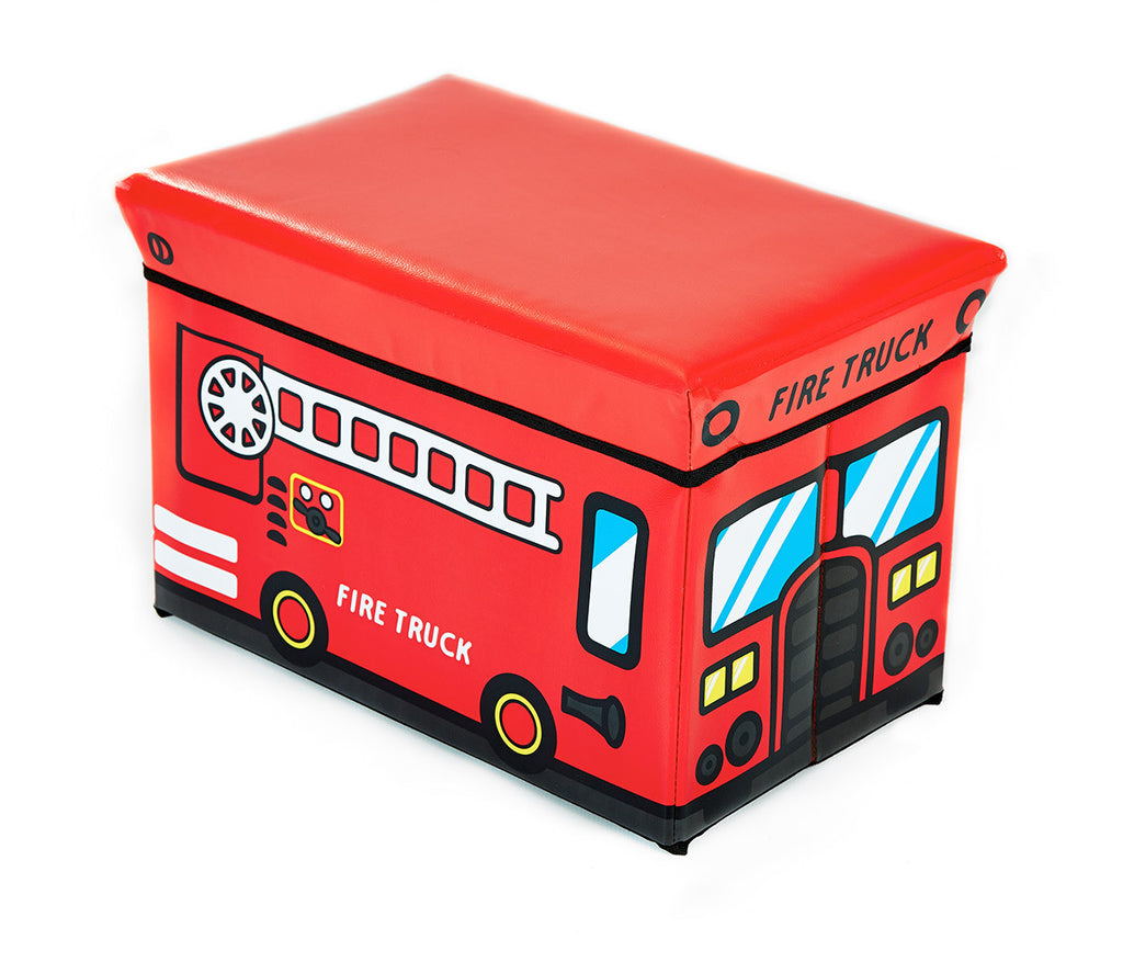 Storeasy Junior Storage Ottoman - Fire Truck Design