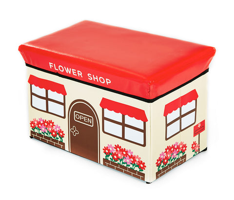 Storeasy Junior Storage Ottoman - Flower Design