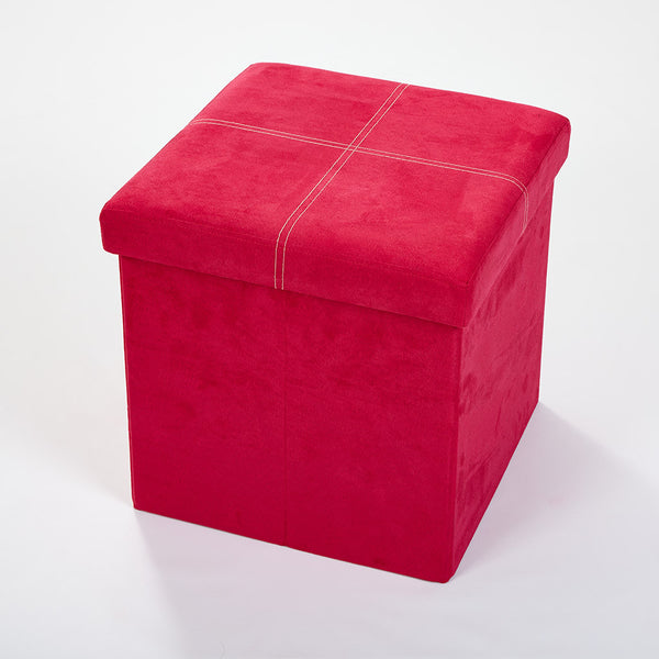 Storeasy Rose Pink Micro Suede Single Seat Ottoman
