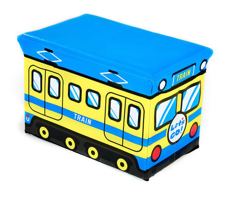 Storeasy Junior Storage Ottoman - Train Design