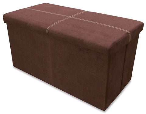 Storeasy Earth Micro Suede Double Seat Ottoman
