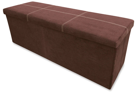 Storeasy Earth Micro Suede Triple Seat Ottoman
