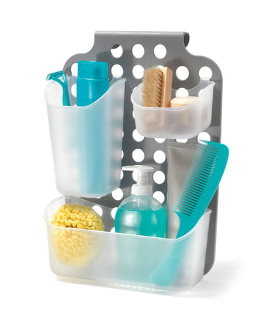 Adjustable organizer for shower / cabinet door