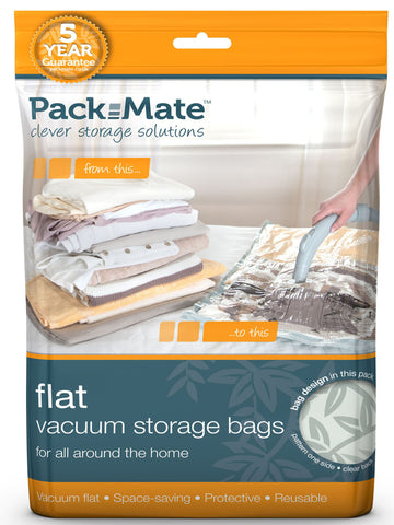 Packmate - 2pc Large Flat Vacuum Bag Set