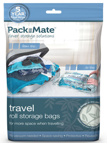 Packmate - 5pc Small Travel / Roll Bag Set