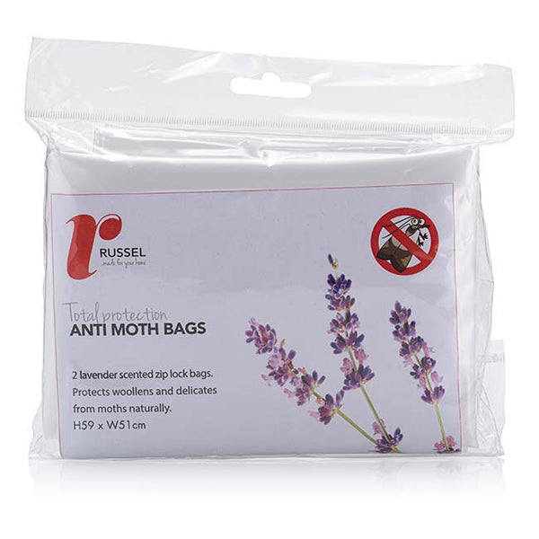 Set of 2 Lavender Scented Zip Lock Bags