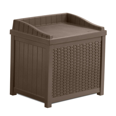 Suncast 83 Litre Wicker Storage Seat