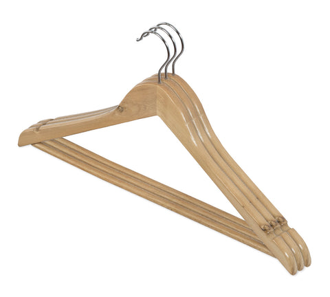 3pc Natural Wood Hanger Set