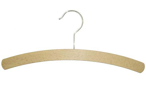 Crescent Hanger in Waxed Beech Wood, with Silver Hook