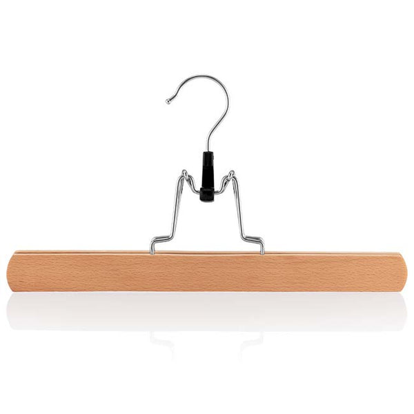 Beech Clamp Hanger with Felt Lining & Silver Hook