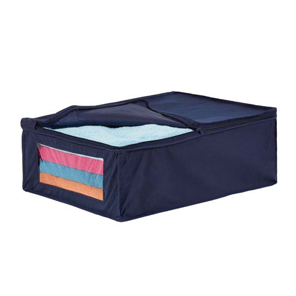 Blanket Bag in Blue with Blue Trim