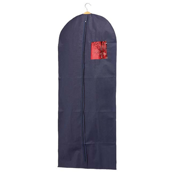 Dress Cover in Blue with Blue Trim