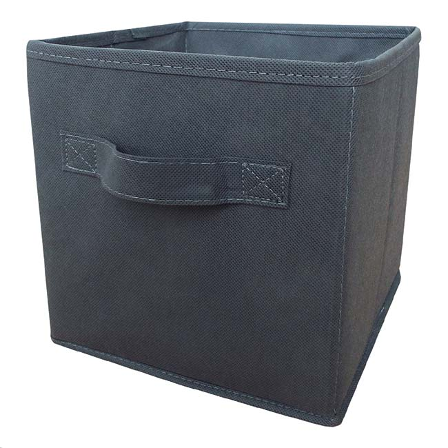 Grey non-woven Foldable Storage Box Large