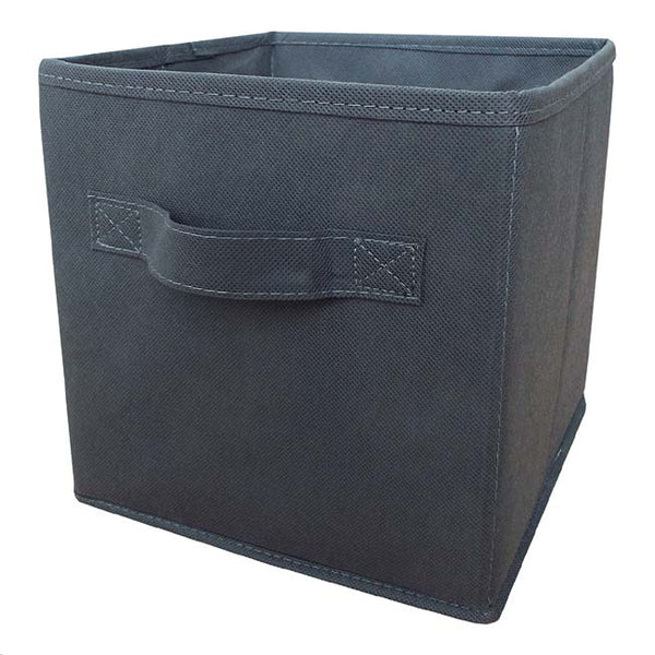 Grey non-woven Foldable Storage Box Medium