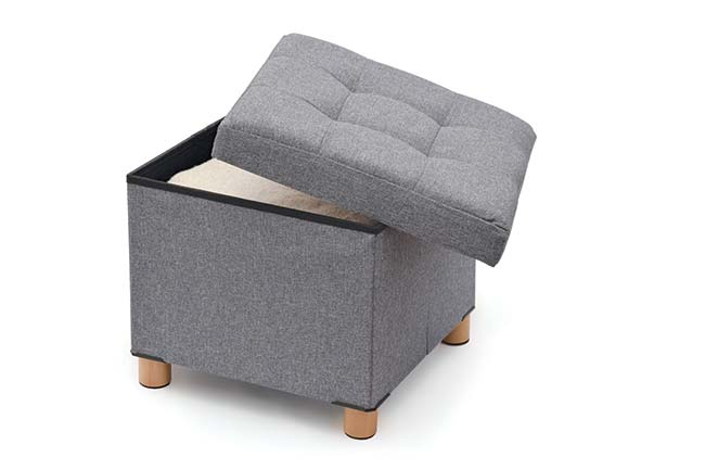 Ottoman Stool with Storage Compartment