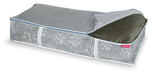 White & Grey Floral Underbed