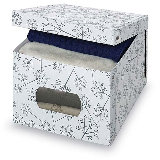 White & Grey Floral Box, Extra Large