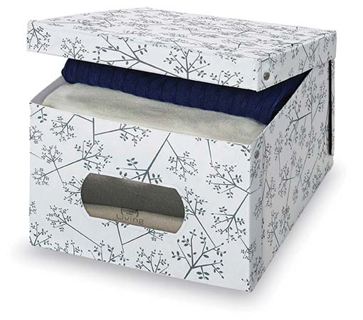 White & Grey Floral Box, Large