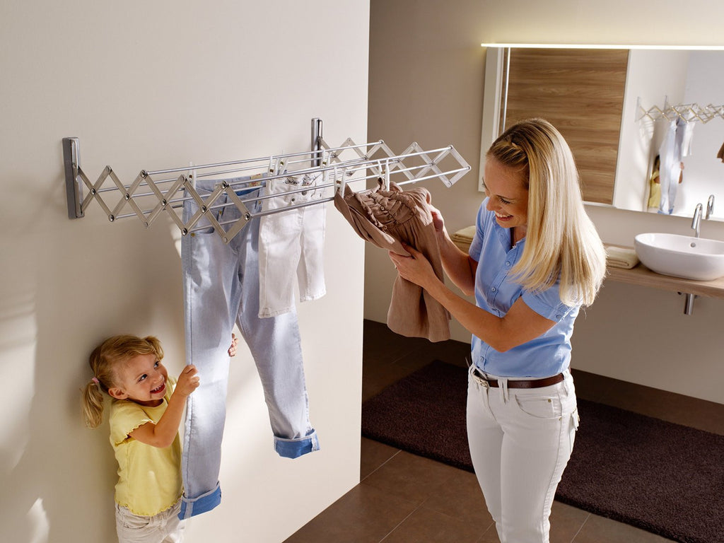 Artweger RuckZuck Clothes Dryer And Mounting Set - Silver