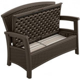Suncast – 87 Litre Love Seat with Storage - Java