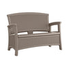 Suncast – 87 Litre Love Seat with Storage - Dark Taupe Colour