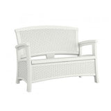 Suncast – 87 Litre Love Seat with Storage - White