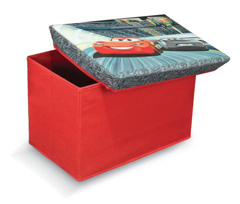 Disney Ottomans Cars Storage Box