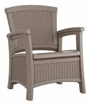 Suncast - Club chair with storage - Dark Taupe