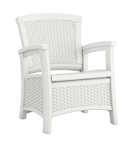 Suncast   Club Chair With Storage   White