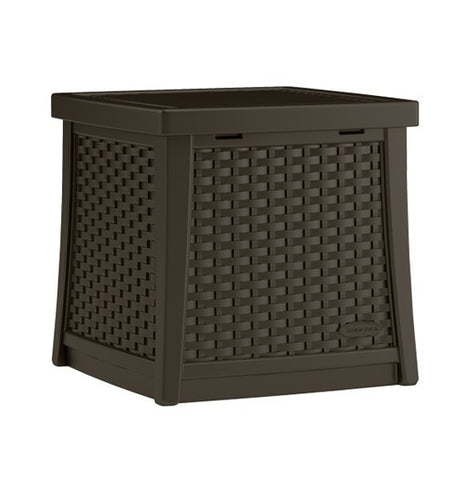 Suncast - Deck Box Side Table - Java (49Ltr)