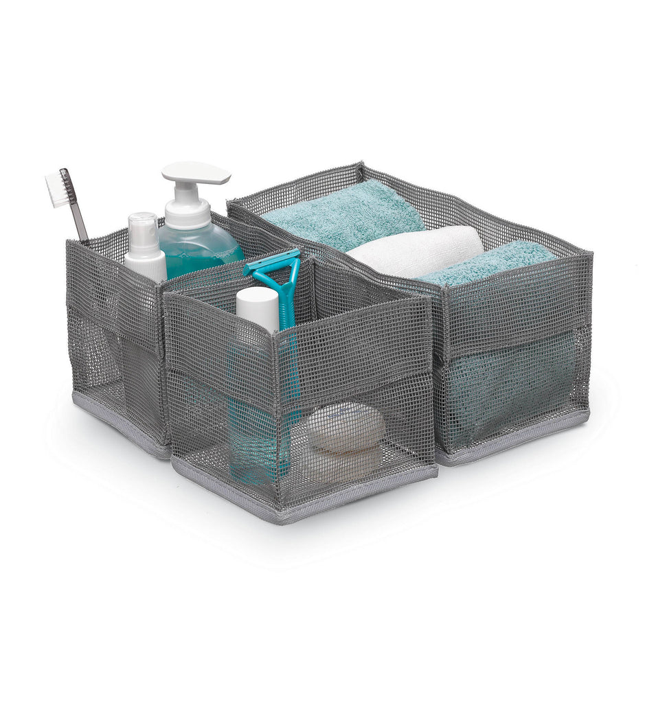 Mesh organizer Set 3 square - Grey