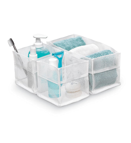 Mesh organizer Set 3 square - White