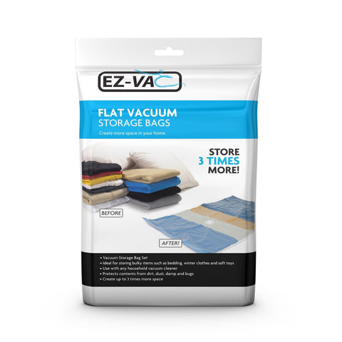 EZ-Vac - 2pc Large Flat Vacuum Bag Set