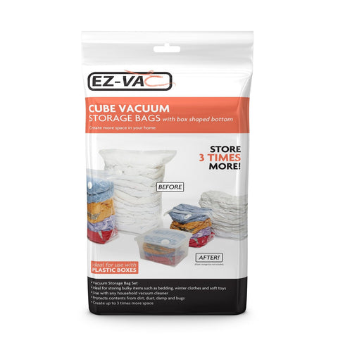 EZ-Vac - 2pc Extra Large Cube Vacuum Bag Set