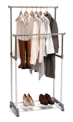 Clothes Rack - Double bar - white