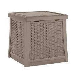 Suncast - Deck Box Side Table Dark Taupe (49Ltr)