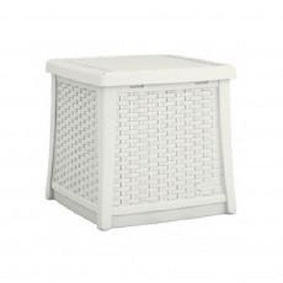 Suncast - Deck Box Side Table - White (49Ltr)