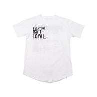 Say Hello Curved Hem T-Shirt - White