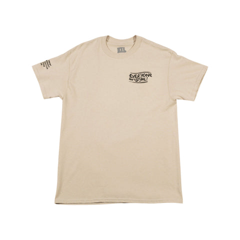 Death Over Disloyalty T-Shirt - Beige