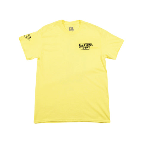 Death Over Disloyalty  T-Shirt - Yellow