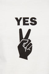 Ivory Yes Peace Sign Boxy Tee