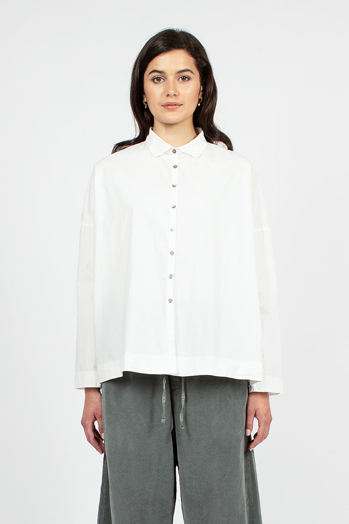 12_49 Short Collar Shirt White